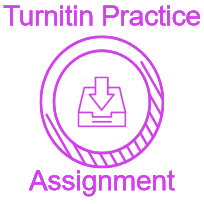 Access to help and practice information about Turnitin